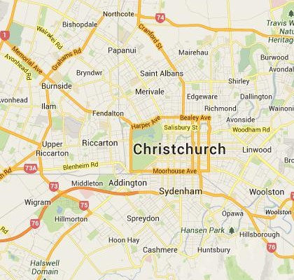 Where Is Christchurch New Zealand On The Map.Google Satellite Maps Of Christchurch New Zealand Milloz