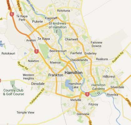 Hamilton New Zealand Map.Google Satellite Maps Of Hamilton New Zealand Milloz