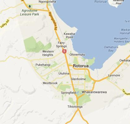 Rotorua New Zealand Map.Google Satellite Maps Of Rotorua New Zealand Milloz