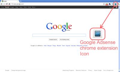 google chrome browser installed with google adsense addon shows overview of adsense earnings