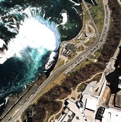niagra falls aerial view