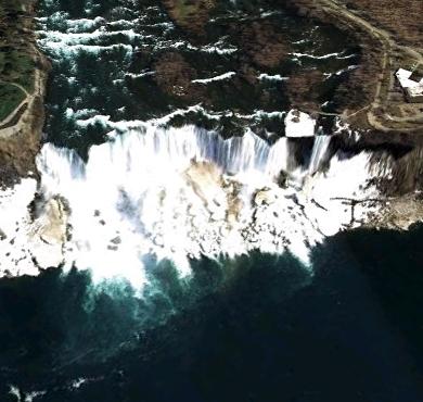 nigra falls google earth image