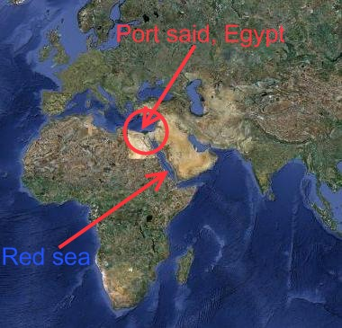 port said in egypt is northern terminus of suez canal an artificial canal of alltime importance