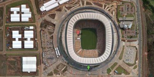 johannesburg south africa soccer city soccer stadium as seen in google satellite maps