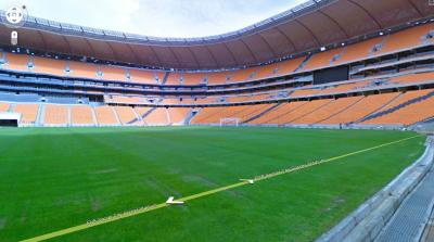 inside of Soccer city johannesburg as seen in google street view, google street view provides 360 degree view