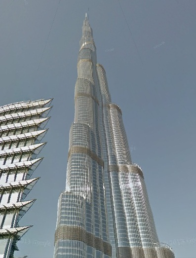 screen shot of burj khaleefa world's tallest tower's google street view