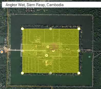 angor wat outer wall area of 203 acres