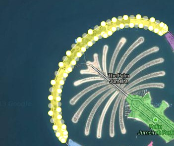palm jumeira circle middle