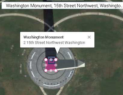 washington monument structure base area 17x17 , 282 sq m