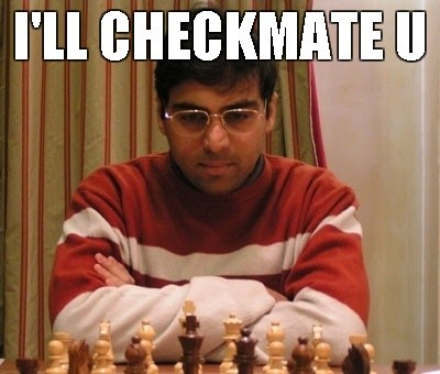 viswanathan anand playing a casual game