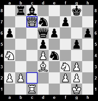 world chess championship 2012 seventh game - position after 24th move of white, white's qc8 brought clear position to blacks undeveloped position