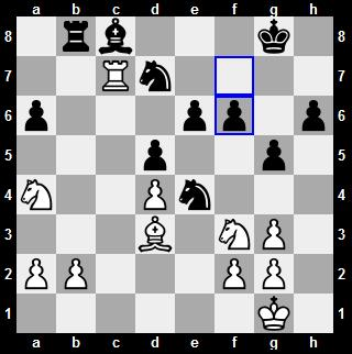 Anand's 25th pawn move from f7-f6 was not an optimal move